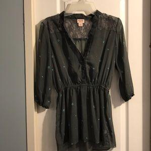Shear dress shirt